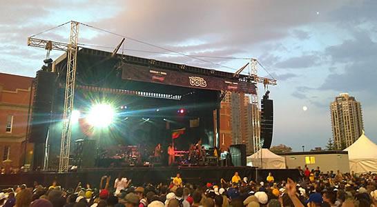 Nas and Damian Marley under a full moon at Rock the Bells Calgary